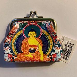 🦋NWT Vintage Print   Giving Buddha Coin Purse